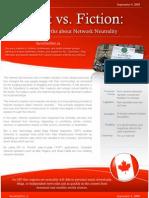 SaveOurNet.ca Fact vs. Fiction Report