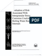 Evaluation of Risk  Associated With  Intergranular  Stress  Corrosion Cracking in  Boiling Water Reactor  Internals