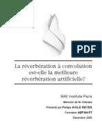 La réverbération à convolution est-elle la meilleure réverbération artificielle?