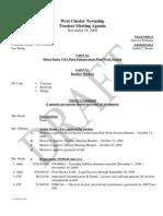 Agenda 11.18.08
