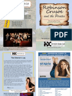 Programme - Robinson Crusoe (Jan 2012)