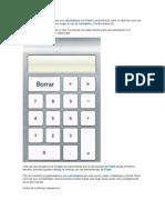 Calculadora Con Flash y Action Script