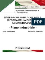 riforma pa piano industriale 280508