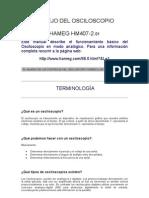 osciloscopio hameg