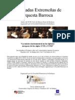 Dossier II Jornadas Extremeñas de orquesta Barroca