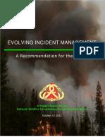 EVOLVING INCIDENT MANAGEMENT