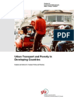 Urban Transport and Poverty in Developing Countries. Analysi