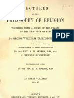 Geog Wilhelm Friedrich HEGEL Lectures on the PHILOSOPHY of RELIGION Voume 2 E.B.speirs and J.burdon Sanderson London 1895