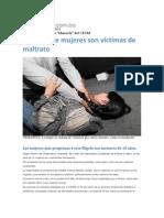 Al día, siete mujeres son víctimas de maltrato