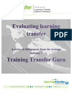 Evaluating Learning Transfer