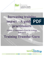 Increasing Training Impact_a Guide for Practitioners