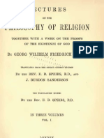 Georg Wilhelm Friedrich HEGEL Lectures on the PHILOSOPHY of RELIGION Volume 1 E.B.speirs and J.burdon Sanderson London 1895