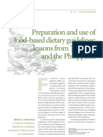 Preparation and Use of Food-based Dietary Guidelines Lessons