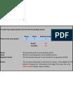 German Grade Calculation
