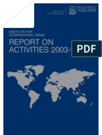 Institute for International Trade - Report on Activities 2003-10