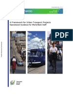 Framework for Urban Transport Projects WB Paper