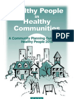 Healthy People in Healthy Community - Community Planning