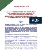 Republic Act No 7836