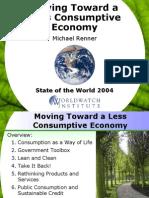 A Less Consumptive Economy