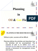 (2) Planning in Oil and Gas Fields