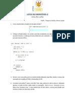 Exercicios - Lista, Fila, Pilha