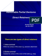Removable Partial Dentures(Direct Retiner)