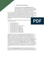 Historia de Microsoft Word Excel