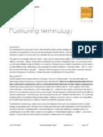IDEA Pharma Positioning Terminology
