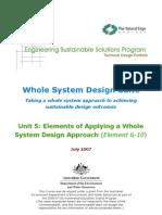 ESSP WSDS - Unit 5 Whole System Design (Elements 6-10)