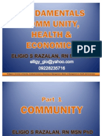 QMC Community, Health & Economics