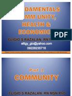 QMC Community, Health & Economics