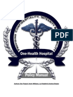 One-Health Hospital Policy Manual