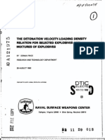 Donna Price- The Detonation Velocity-Loading Density Relation for Selected Explosives and Mixtures of Explosives