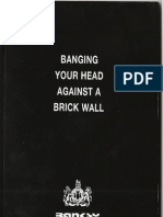 Banksy - Banging your head against a brick wall [2001]