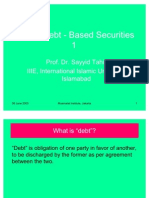 Islamic Debt-Based Securities -1