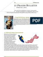 Prayer Bulletin - February 2012