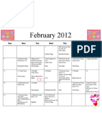 Shortcut to February 12 Calendar