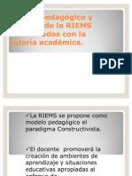 Modelo pedagógico y enfoque de la RIEMS  relacionados con la tutoría académica.