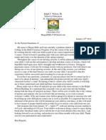 Parent Letter for Practicum