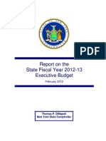 2012 Review of Executive Budget