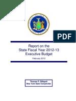 2012 Review of Executive Budget