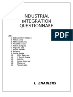 Industrial Integration Questionnare