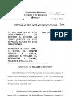 Motion to Quash Subpoena Feb6 A1022