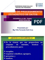 TECNICAS DE PROCESAMIENTO