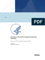 Summary Report on Nhin Prototype Architectures