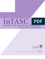 InTASC Model Core Teaching Standards 2011
