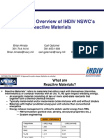 Brian Amato, Carl Gotzmer and Steve Kim- Applications Overview of IHDIV NSWC NSWC's Reactive Materials