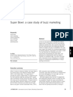 Super Bowl - A Case Study of Buzz Marketing