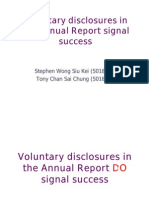Voluntary Disclosure Signal Success for (1)