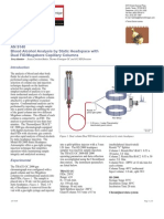 Blood Alcohol Analysis by Static Headspace With Dual FID-Megabore Capillary Columns